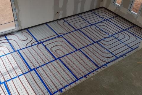Installation plancher chauffant